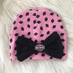 {Harley-Davidson} Baby Girls Beanie Bow Hat
